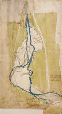 Map of Arno and Mugnone just outside Florence