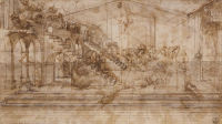 Preparatory study for the background of the Adoration of the Magi