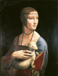 Portrait of Cecilia Gallerani (The Lady with the Ermine) © Czartoryski Museum